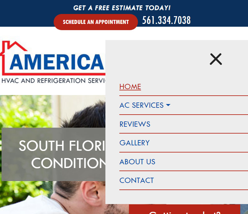 American hvac and refrigeration services mobile design