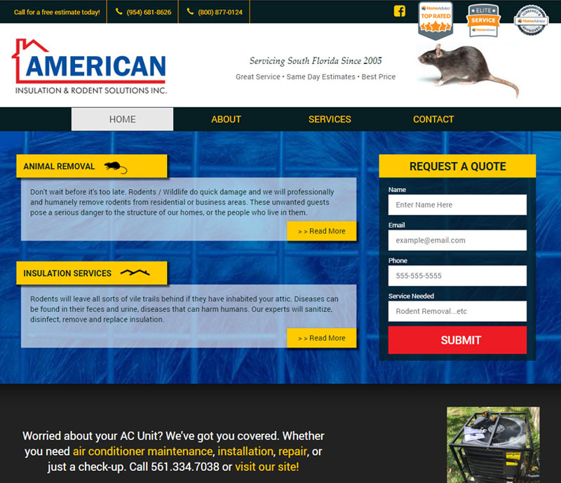 American insulation and rodent solutions homepage
