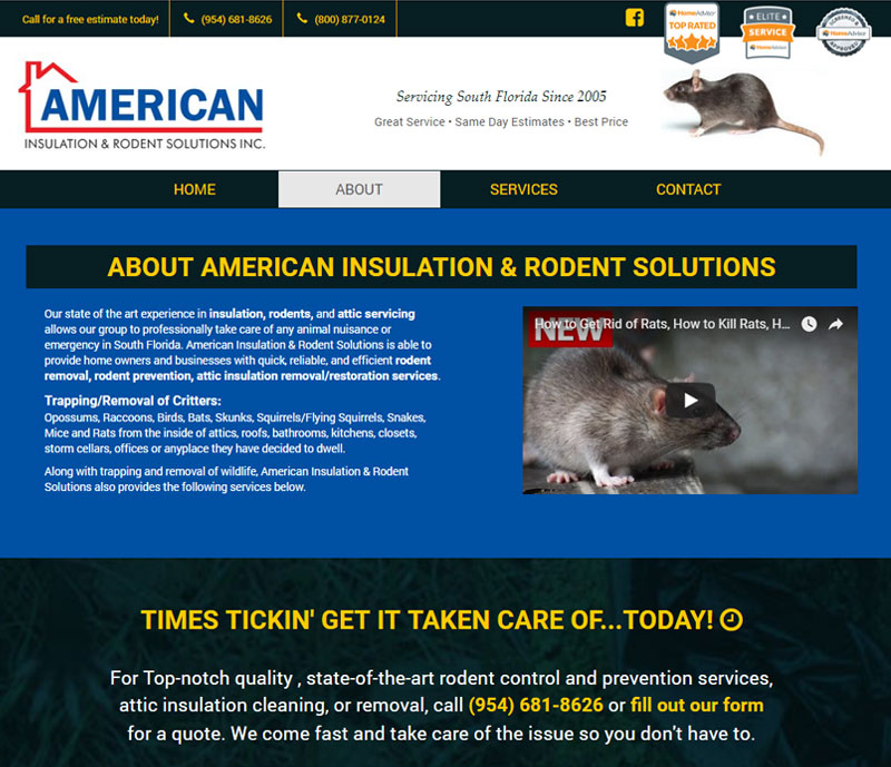 American insulation and rodent solutions about page