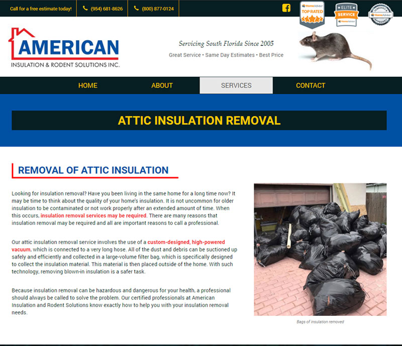 American insulation and rodent solutions rodent removal