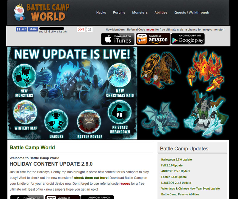 battle camp world homepage