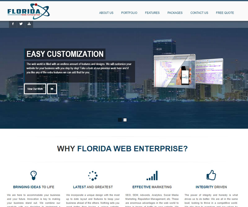 florida web enterprise homepage
