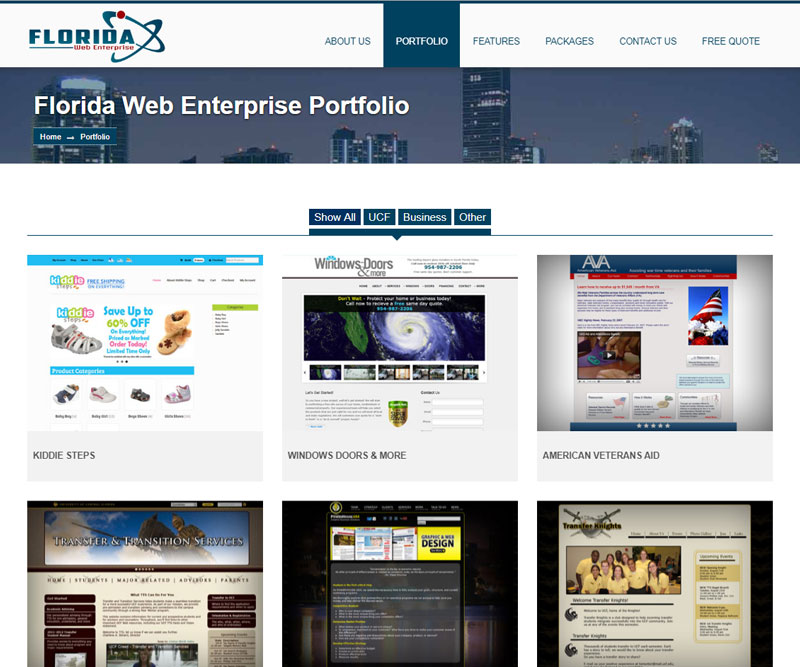 florida web enterprise portfolio page