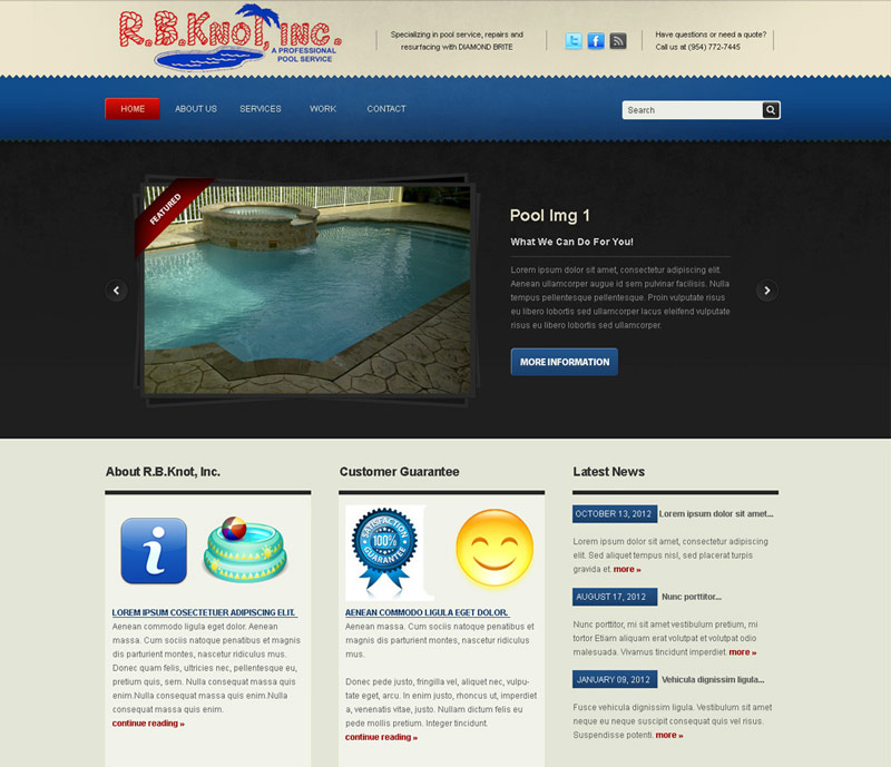 rb knot pools homepage